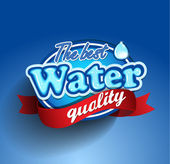 Water quality label — Stock Vector