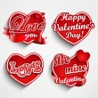 Valentine's day label, badge or seal. — Stok Vektör #37104561