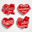 Valentine's day label, badge or seal. — Vecteur #37104561