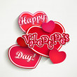 Valentine's day label, badge or seal. — Stock Vector