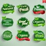 farma čerstvé potraviny label, odznak nebo pečeť — Stock vektor