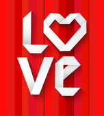 Love font paper concept — Stock Vector