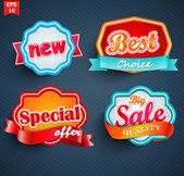 Badges collection — Stock Vector