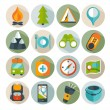 Camping icons — Stock Vector #40521277