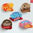 Set of stickers of drinks — Stock Vector #40522105