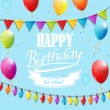 Template for Happy birthday card. — Stock Vector