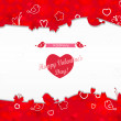Frame with hearts of Valentine's Day. — Stock Vector