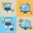 Icons for web design, seo, social media — Vector de stock