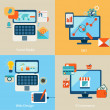 Stock Vector: Icons for web design, seo, social media