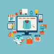 ������, ������: Concept icons for online shopping