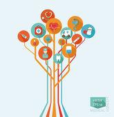 Abstract tree - a medical concept — Stock Vector