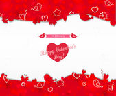 Frame with hearts of Valentine's Day. — Vector de stock