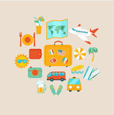 Travel mobile UI applications — Stock Vector