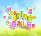 Inscription Spring sale — Stock Vector