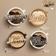Stock Vector: Coffee icon set menu.