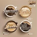 Coffee icon set menu. — Stock Vector