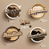 Coffee icon set menu — Stock Vector