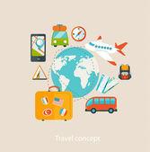 Travel concept. — Stock Vector