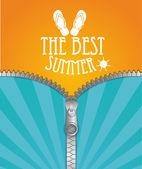 Stylish summer background — Stock Vector