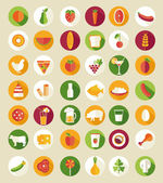 Food and drink design icons — Stock Vector
