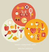 Healthy lifestyle concept — Stock Vector