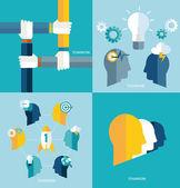 Concept teamwork — Stock Vector