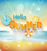 Hello summer background — Stock Vector