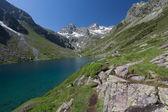 Mountain lake, National park of pyrenees, France — Stock Photo