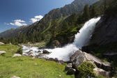 Waterfall in mountain, National park of pyrenees, France — Stock Photo