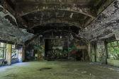 Cinema in an abandonned hospital — Stock Photo