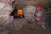 Underground party inside catacombs of Paris — Stock Photo