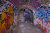 Abandoned underground bunker from cold war — Stock Photo