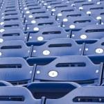 Empty Stadium Seating, Blue Seats — Stock Photo #24076197