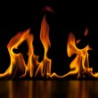 Isolated Flame — Stock Photo #24078125