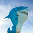 Shark Hot Air Balloon — Stock Photo