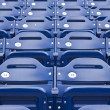Empty Stadium Seating, Blue Seats — Stock Photo