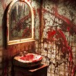 Stock Photo: Blood Stained Wall