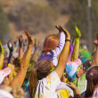 Color Me Rad Hands — Stock Photo