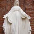 White stone statue of saint Mary — Stock Photo