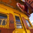 Stock Photo: Train Caboose Closeup