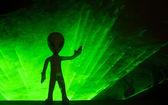 Little Green Man — Stock Photo