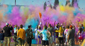 Color Me Rad Color Bombs — Stock Photo