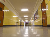 Empty Hall in School — Stock Photo