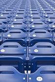 Empty Stadium Seating, Blue Seats — Stock Photo