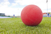 Red Ball on Field — Stock Photo