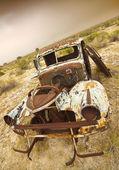 放棄されたトラック — ストック写真