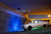 Classic Car under bridge — Stock Photo