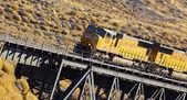 Godståg på bron — Stockfoto