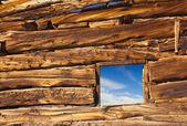 Old Cabin Window — Stock Photo