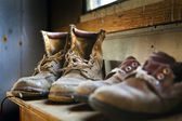 Dirty old shoes — Stock Photo